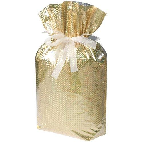 Gift Mate 21175-2 2-Piece Drawstring Gift Bags, Jumbo, Diamond Gold]()
