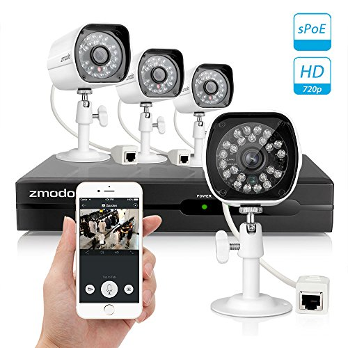 Zmodo-Smart-PoE-720P-HD-Security-Camera-System-4-x-720P-Outdoor-Night-Vision-Surveillance-Camera-No-Hard-Drive