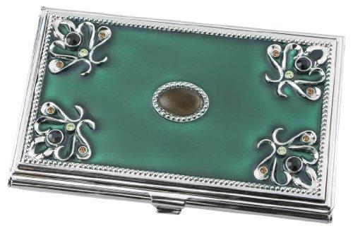 Visol Turquoise Green Business Card Holder for Women (V738b)