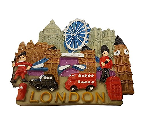 London Souvenir Large Polyresin Fridge Magnet-London Everything Capital Gifts and Souvenirs