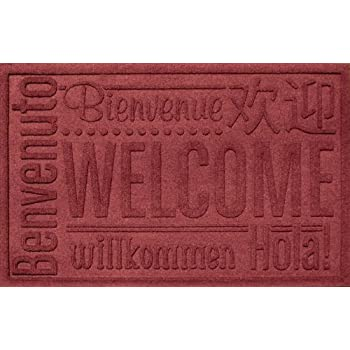 Aqua Shield World Wide Welcome Mat Color: Red