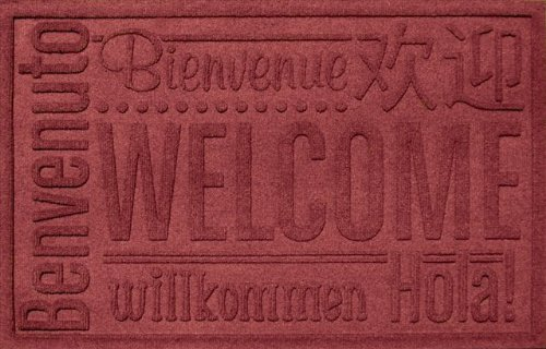 Bungalow Flooring Aqua Shield World Wide Welcome Mat Color: Red/Black