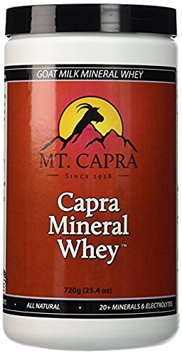 Organic Goat (Mt. Capra - Capra Mineral Whey, 720 grams Powder Goat Milk Minerals and Electrolytes From Grass-Fed Pacific Northwest Goats Bio-Organic Potassium, Calcium, Phosphorus, Magnesium Supplement Complex)