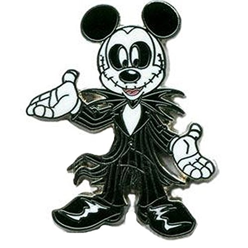 Disney Mickey Mouse Dressed as Jack Skellington Pin]()