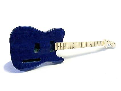 Kit de guitarra eléctrica ML-Factory® MLT transparente Blue Ash ...