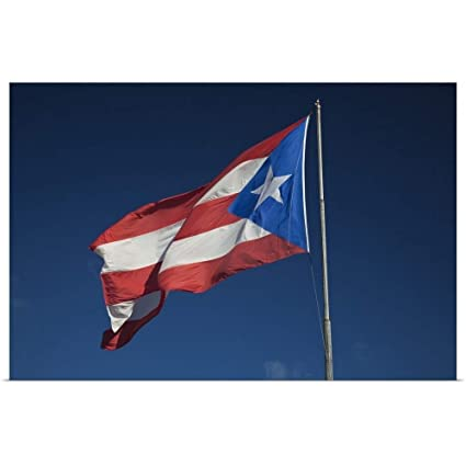 Puerto Rican Flag Print  Poster or Canvas