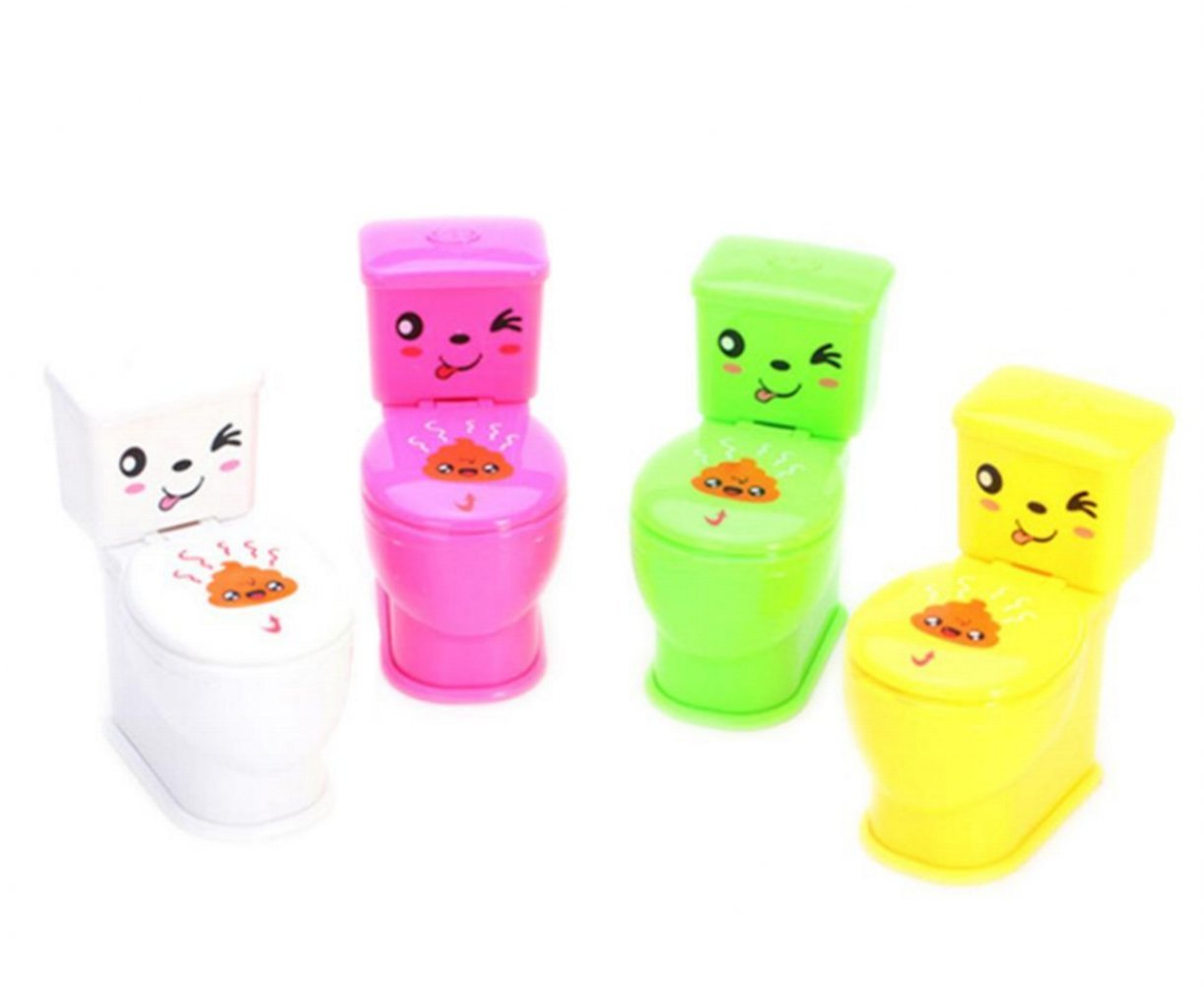 WellieSTR 5 pcs 11x10cm Water Spray Toilet Novelty Tricky Children Toy Anti Stress Funny Gadgets Gifts For Kids Adult Christmas Jokes (random color)