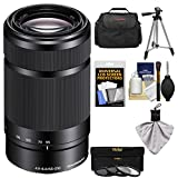 Sony Alpha E-Mount 55-210mm f/4.5-6.3 OSS Zoom Lens (Black) with 3 Filters + Case + Tripod Kit for A7, A7R, A7S Mark II, A5100, A6000, A6300 Cameras