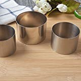 3 Pcs Stainless Steel Mini Round Food Pastry Ring