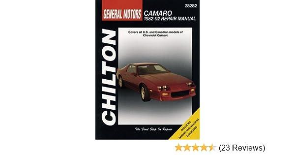 gm camaro 1982 92 chilton total car care series manuals chilton rh amazon com Chevy Truck Repair Manual Chilton Repair Manuals PDF