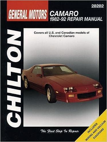 Gm Camaro 1982 92 Chilton Total Car Care Series Manuals Chilton