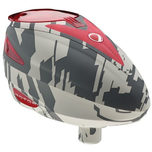 Dye Rotor Electronic Paintball Hoppers - Airstrike Red