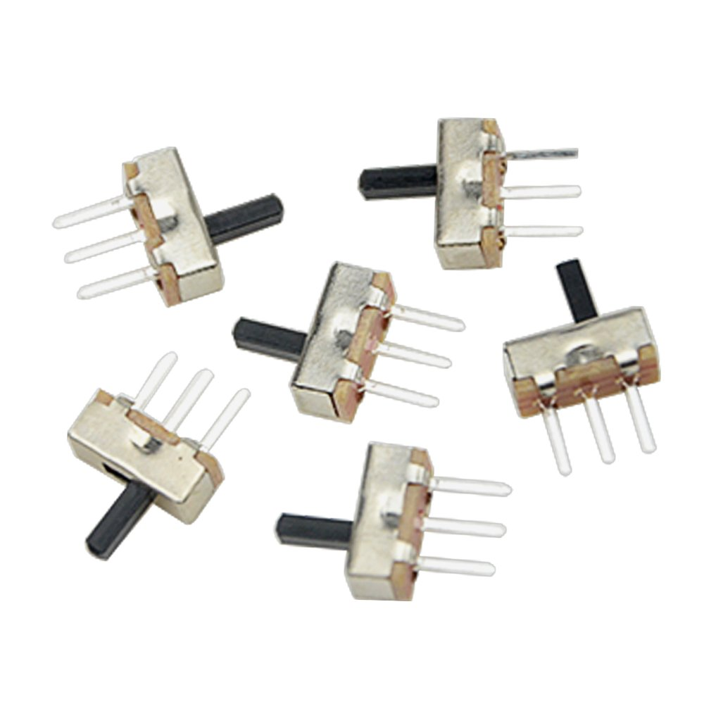 WGCD 150 PCS 3 Pin 2 Position 1P2T SPDT Vertical Micro Slide Switch 0.5A 50V DC