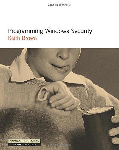 Programming Windows Security [Brown, Keith] (Tapa Blanda)