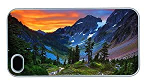 Hipster iPhone 4 amazing covers switzerland mountains sunset PC White for Apple iPhone 4/4S by ruishername