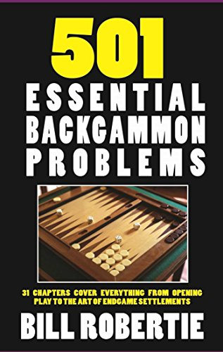 501 Backgammon Problems by Cardoza