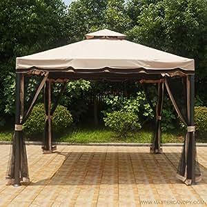 Amazon Com Mastercanopy Patio 10x10 Rome Gazebo Canopy
