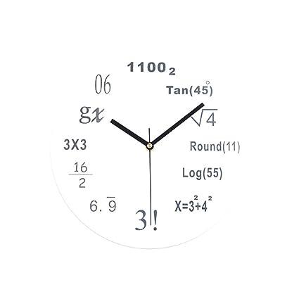 Huangou Creative Digital Math Wall Clock - Unique Wall Clock - Each Hour Marked a Simple