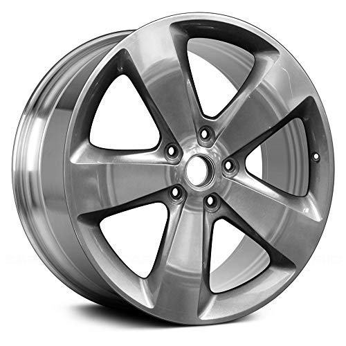 (Value Replica 5 Spokes Polished and Medium Charcoal Metallic Factory Alloy Wheel OE Quality Replacement)