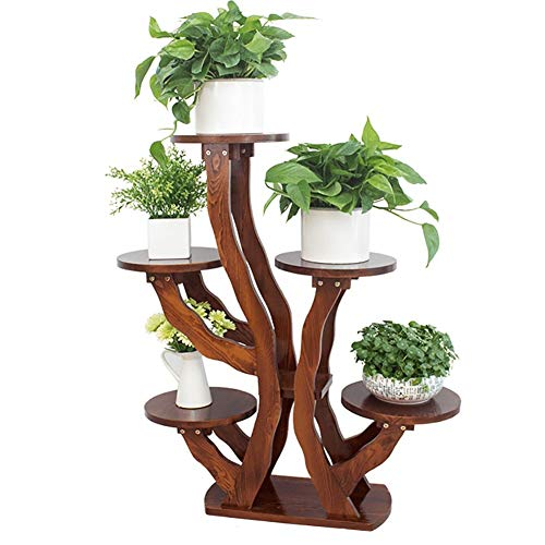(Home Flower Shelf Plant Display Stands Garden Plan 4 Storey Outdoor Indoor 5 Flower Pot Holder Holder Balcony Floor Type Multi-Layer Wooden Storage Rack Wooden Flower Stand Ladder Plant Stand A+)