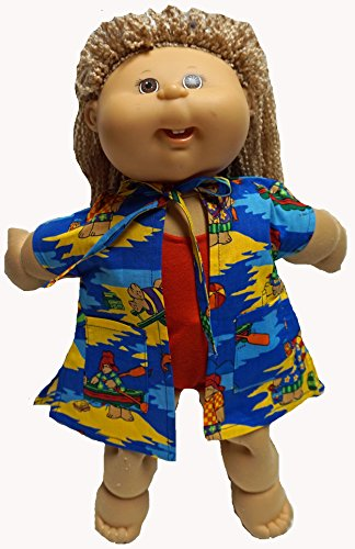 Paddington Bear Beach Print Doll Clothes Fits Cabbage Patch Kid Dolls from Doll Clothes Super store