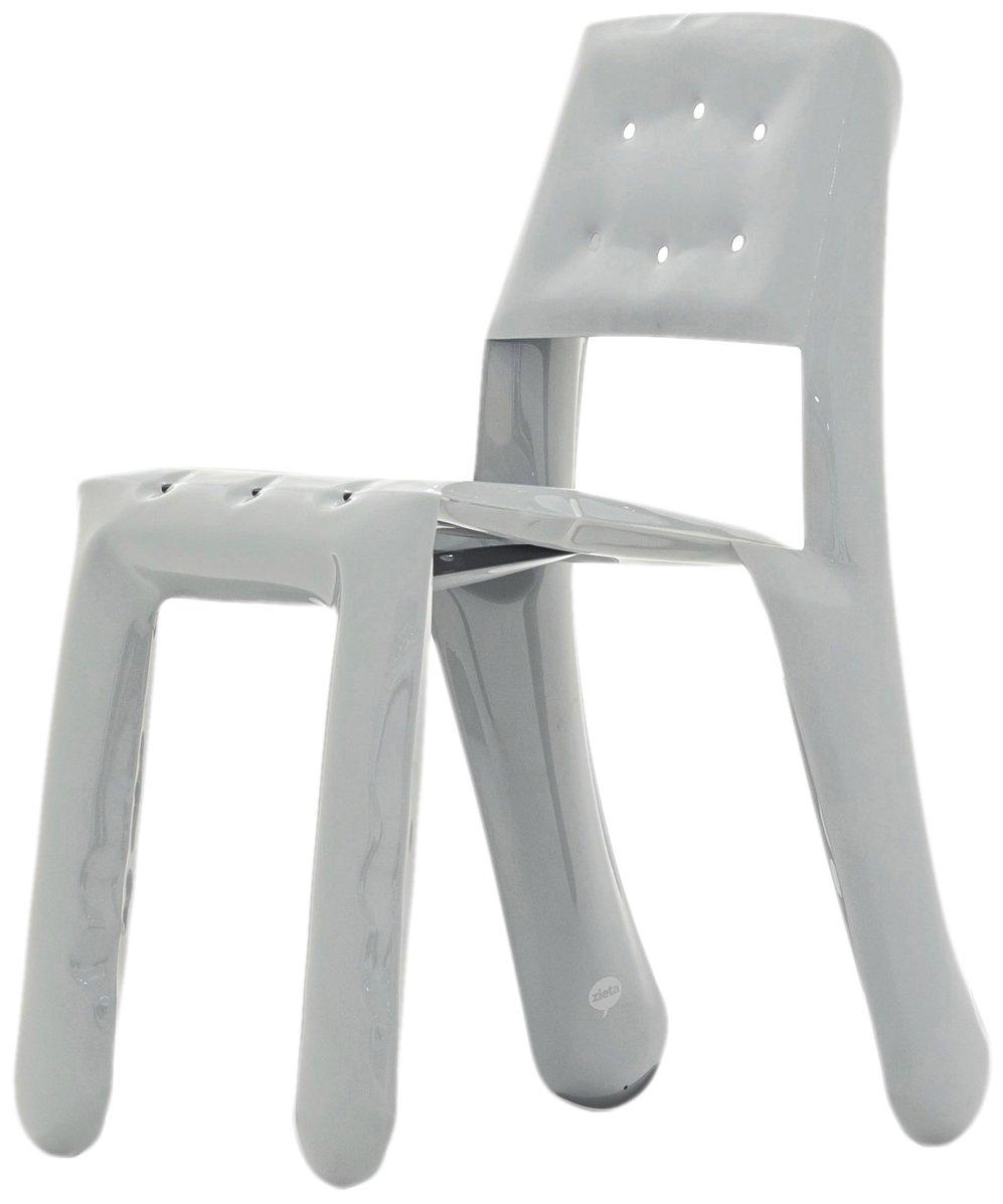 Zieta KC05/ALU/7042 Stuhl Chippensteel 0,5 Aluminium, grau