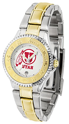 Utah Utes Competitor Steel Watch (Utah Utes Competitor Two-Tone Women's Watch)