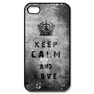 DIY Fashion Design Keep Calm And Love Hard Plastic Back Protective Case for Apple Iphone4&4s FC-2