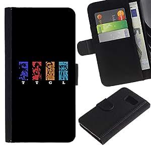 // PHONE CASE GIFT // Moda Estuche Funda de Cuero Billetera Tarjeta de crédito dinero bolsa Cubierta de proteccion Caso Samsung Galaxy S6 / TTGL /