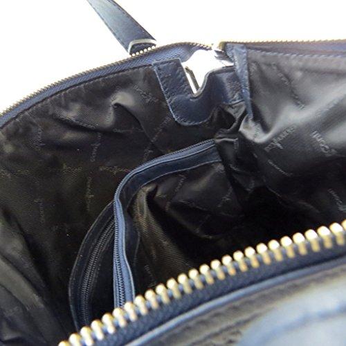 Bolsa de cuero 'Gianni Conti'marino - 36x34x12 cm.