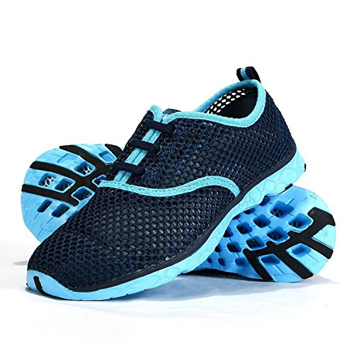 Blue Quick Drying Water Unisex Shoes Slip Breathable Mesh Sneakers On Aqua Mesh iLory Sport Shoes Upstream x1qYZA0q
