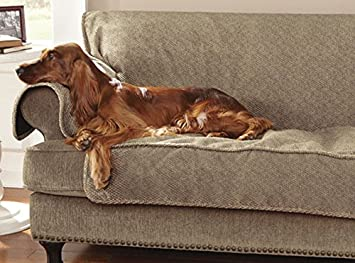 Orvis Grip Tight Furniture Protector / Only Sofa Protector 70u0026quot;w, Brown  Tweed