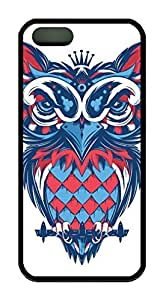 Hipster Owl Theme Iphone 5 5S Case TPU Material