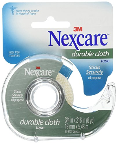Nexcare Durable Cloth First Aid Tape with Dispenser, 3/4 Inch, Pack of 24