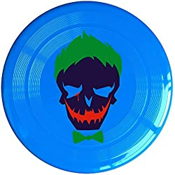 VOLTE Joker Suicide Film Squad Task Comic Force X Character Logo RoyalBlue Flying-discs 150 Grams Outdoor Activities Frisbee Star Concert Dog Pet Toys