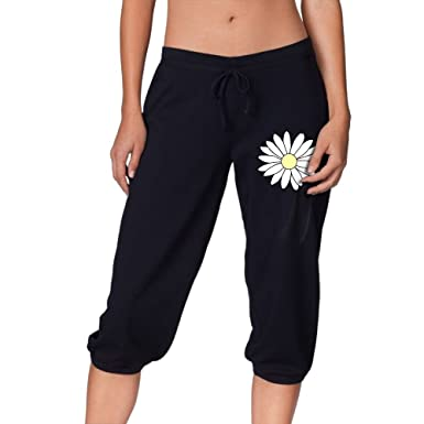 7f1c4ce2f2 Womens Casual Flowers Capri Pants Shorts Cropped Trousers Training Jogger  Sports Gym Yoga Pant S