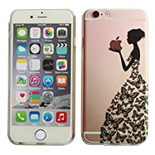 Let it be Free Colorful Square Rhombus Clear Edge TPU Soft Case Rubber Silicone Skin Cover for iphone 6 4.7 Inch (Not for iphone6 Plus)