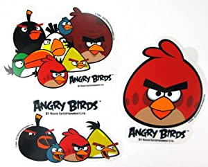 Amazoncom Piece Angry Birds Stickers Bird Cast Angry Bird - Bird window stickers amazon