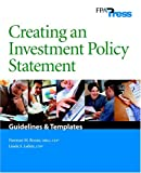 Creating an Investment Policy Statement, Norman Boone and Linda Lubitz, 0975344803