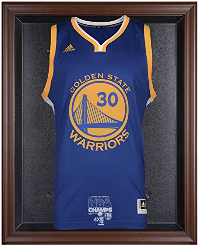 Golden State Warriors 2015 NBA Finals Champions Logo Brown Framed Jersey Display Case - Fanatics Authentic Certified by Sports Memorabilia