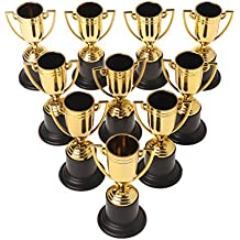 Forgun 10pcs Golden Cups Trophy Sports Winner Educational Props Kids Reward Prizes Toys
