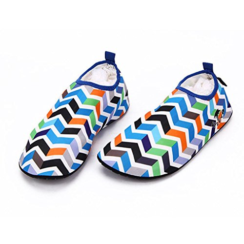 Bovake Barefoot Shoes, Soft Aqua Socks Non-Slip Treadmill Shoes Wading Shoes - Swim Yoga Beach Running Snorkeling Surf Scuba Diving Socks - Water Shoes for Unisex Adult Men & Women Blue