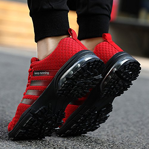 Black Air slim 36 1 UK Red Athletic UK Men Outdoor Model Sports Walking Red 12 Mesh Women White Running Size 47 Blue Brown Shoes Cushion 4 Trainers Choose PAMRAY Sneakers Up pls COxqzw4Hx