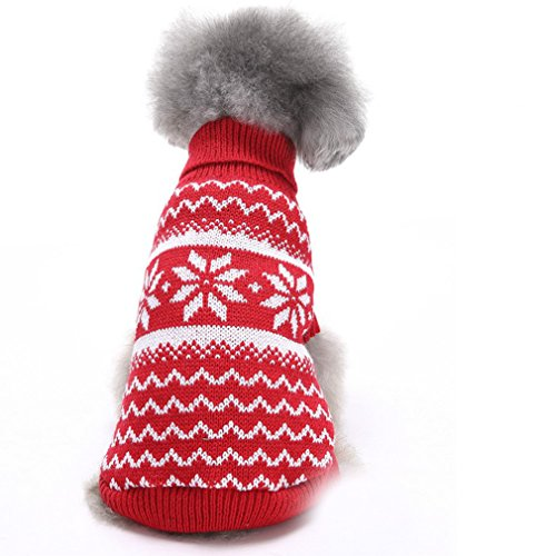 Sweaters For Dogs Nordic Pattern Inspired Fair Isle Snowflake Dog Sweater 10.5