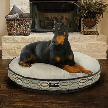 Ronda mascotas cama en marrón, incluye un peluche dormir superficie, hecho de materiales de alta calidad upholstery-grade relleno con 100% fibras ...