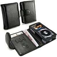 Tuff-Luv Faux Leather Case Cover for Fiio X3 (2nd Gen) Mp3 (Inc. Screen Protector) - Black