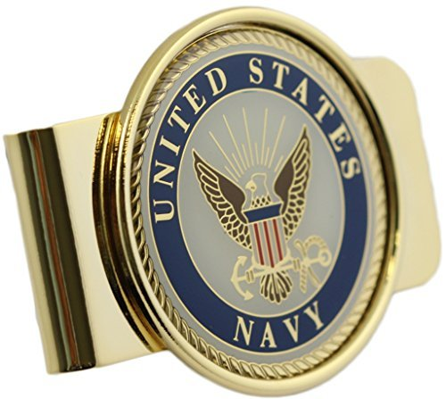 (US Navy Logo Money Clip Military Money Clip)