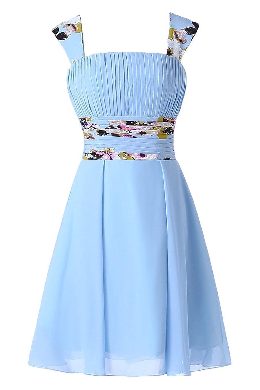 Prom Style Leger Blau Chiffon Partykleider Sommerkleid ...