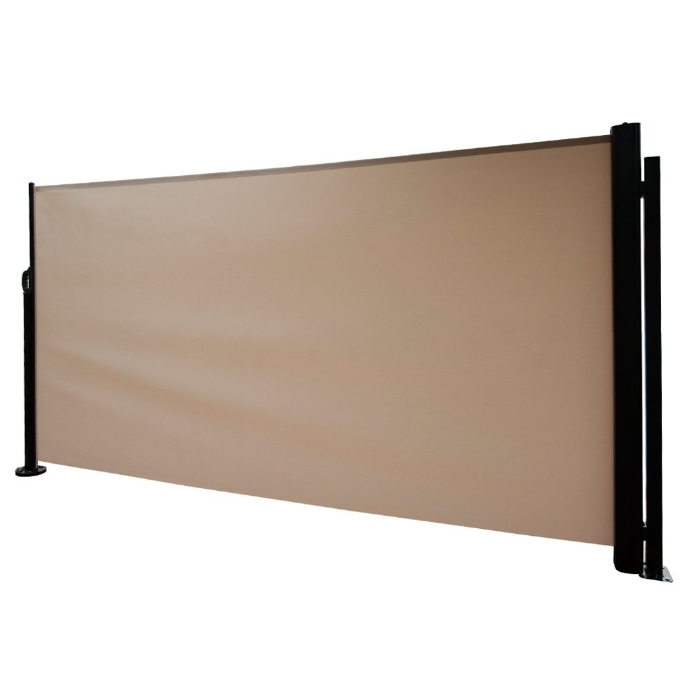 Abba patio retractable folding screen privacy divider with for Retractable patio screens