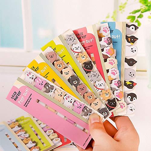 TOOGOO Kawaii DIY memo pad Sticky Notepaper Note Cartoon Animal Bear Dog Pig cat Penguin Sticker Office School Supplies (Pack of 8)
